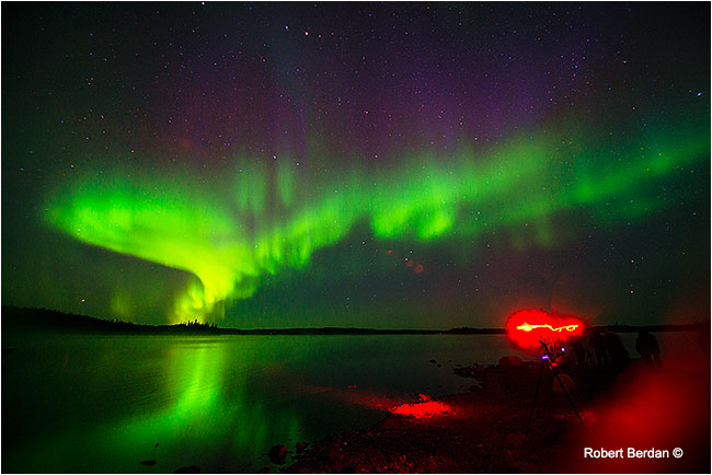Aurora borealis over Prelude Lake by Robert Berdan ©