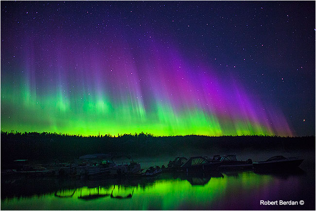 Aurora borealis at Prelude Territorial Park, Northwest Territories by Robert Berdan ©