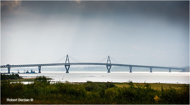 Deh Cho Bridge across the Mackenzie River by Robert Berdan ©