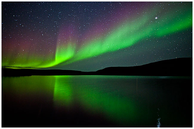 Aurora reflected in water by Robert Berdan ©