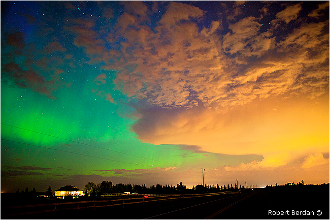 Aurora and storm clouds by Robert Berdan ©
