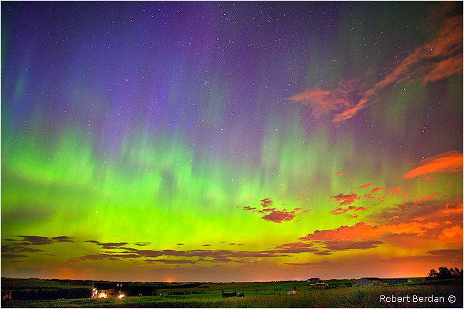 Aurora near Calgary August 5, 2011 by Robert Berdan ©