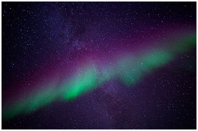 Aurora from below, High Level, Alberta by Robert Berdan ©