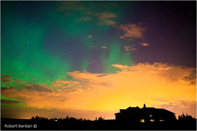 House, clouds over Calgary and Aurora by Robert Berdan ©