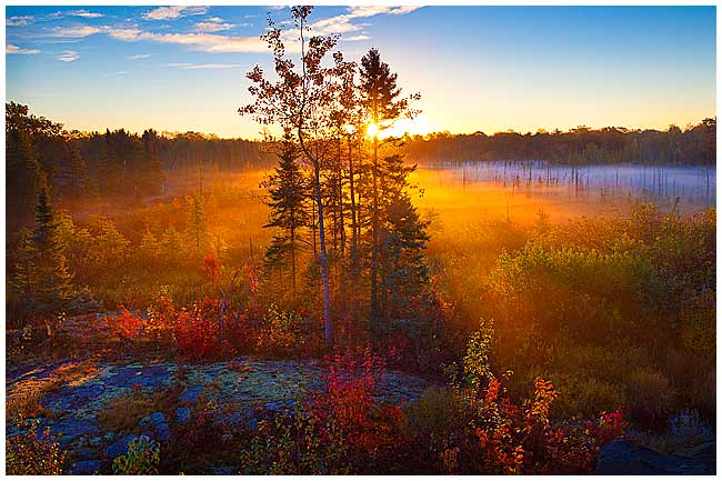 sunrise in October in northern Ontario by Robert Berdan ©