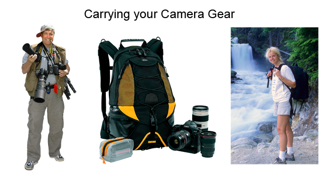 Carrying your camera gear in a vest, or camera bag