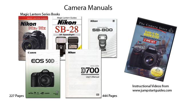Camera manuals and training DVD