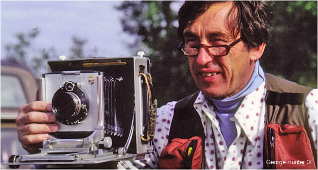 Budd Watson and large format camera by George Hunter ©