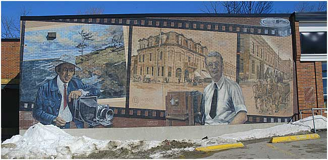 Mural showing Budd Watson and John W. Bald by Karl Berdan