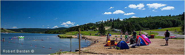 Elk lake Cypress Hills Interprovincial park by Robert Berdan