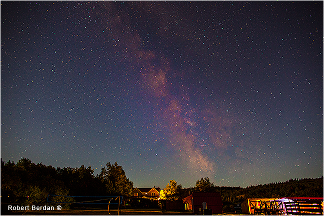 Milky way over Historic Reesor Ranch home by Robert Berdan ©