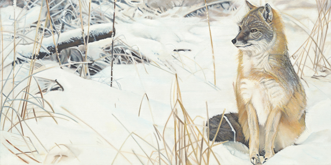 Winter Watch Painting by Dan Feldhauser ©