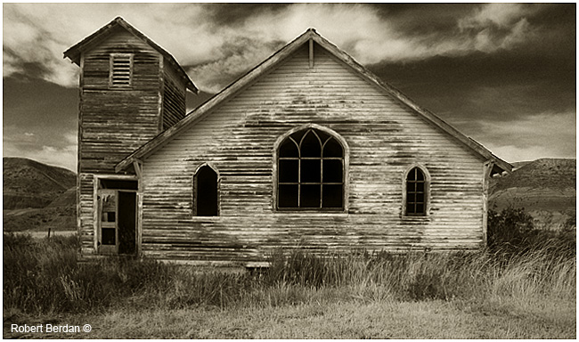 Abandoned Church in Dorthy, Alberta by Robert Berdan ©