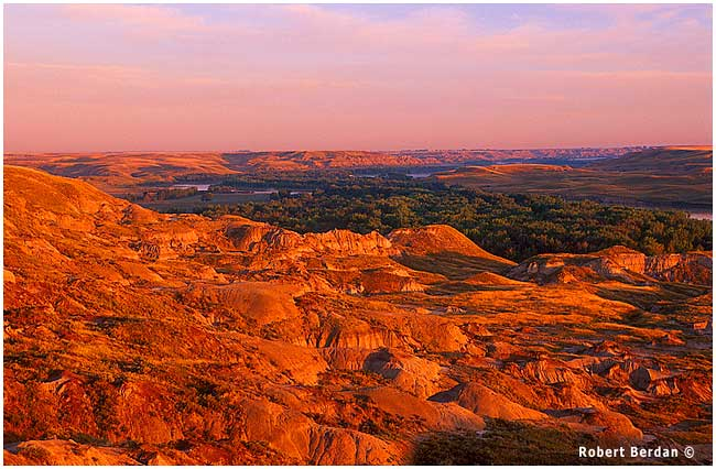 Dinosaur provincial park, Alberta near Brooks Alberta at sunrise by Robert Berdan ©
