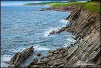 Cliffs near Chitcamp Cape Breton Island Nova Scotia by Robert Berdan