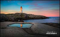 Peggy's Cove Light House Nova Scotia by Robert Berdan