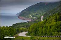 Highway in Cape Breton National Park near Neils Harbour, Nova Scotia by Robert Berdan
