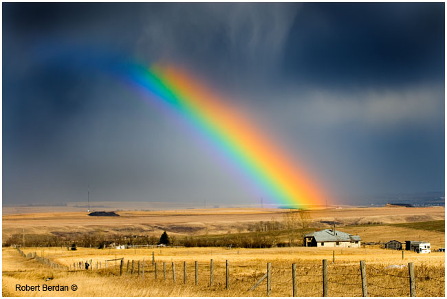 Rainbow and dark sky 2 F-stop neutral density grad filter by Robert Berdan ©