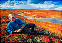 Halle Flygare portrait on the tundra by Robert Berdan ©