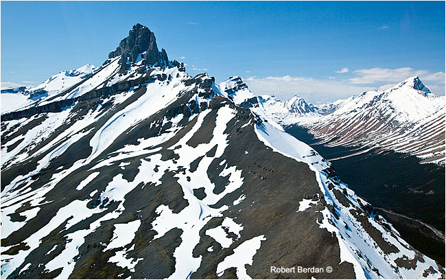 Canadian Rockies view from helicopter by Robert Berdan ©