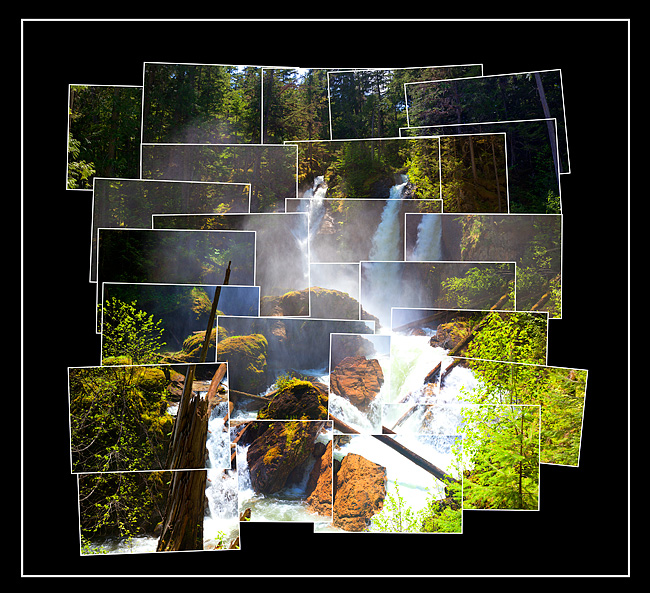 Begbie Creek Waterfalls in the Hockney Style by Robert Berdan ©