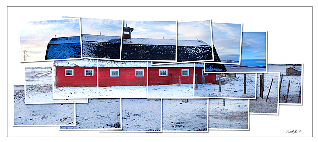 Red Barn Hockney style photo by Robert Berdan �