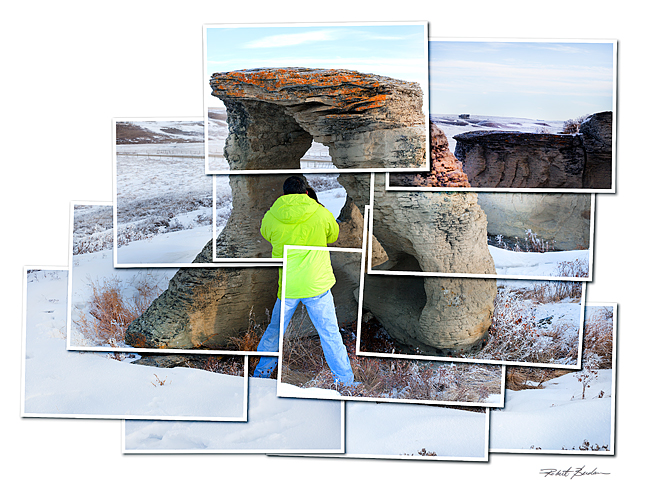 Hockney style photograph of Hoodoo by Robert Berdan �