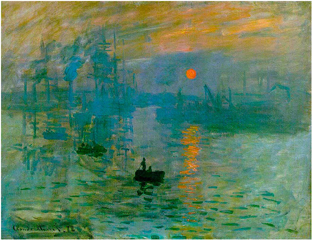 Painting by Claude Monet - Impression Sunrise