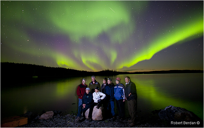 Group photo in front of Aurora on Prelude Lake by Robert Berdan ©