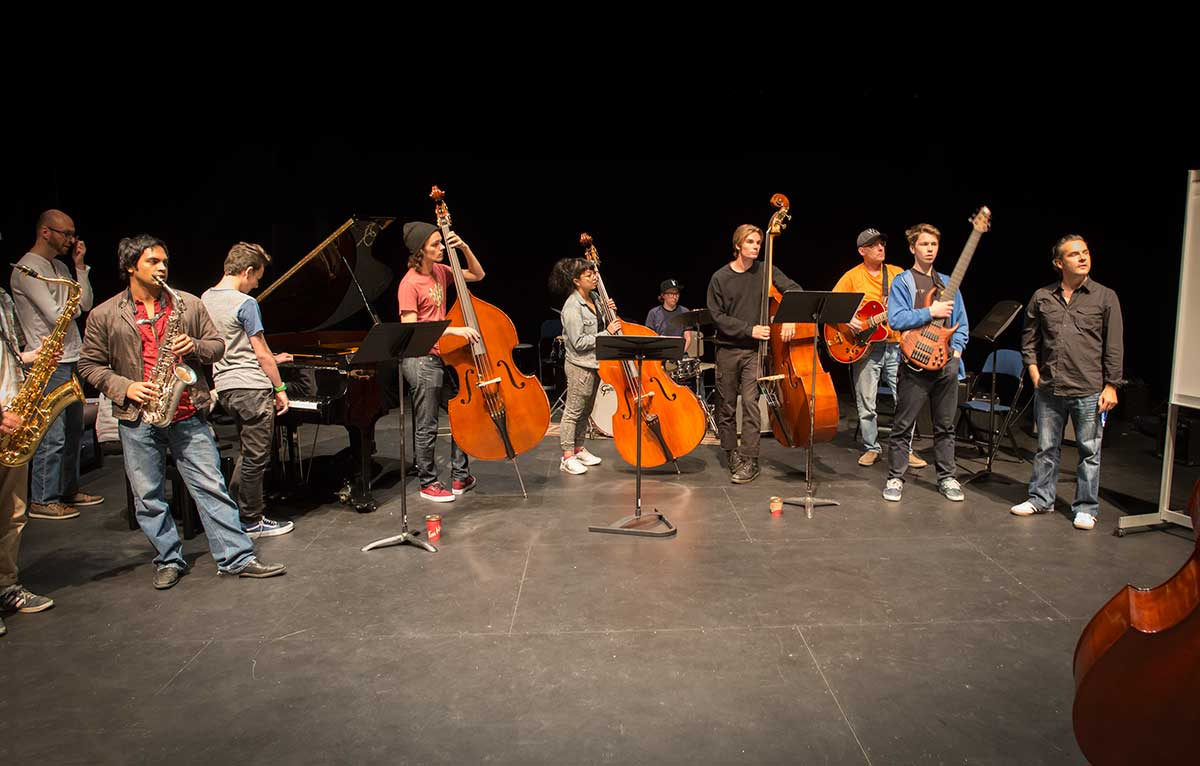 Jazz students Mount Royal University by Robert Berdan ©