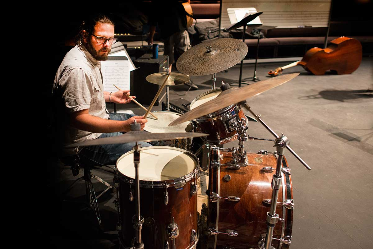 Instructor - Jon May on Drums  by Robert Berdan ©