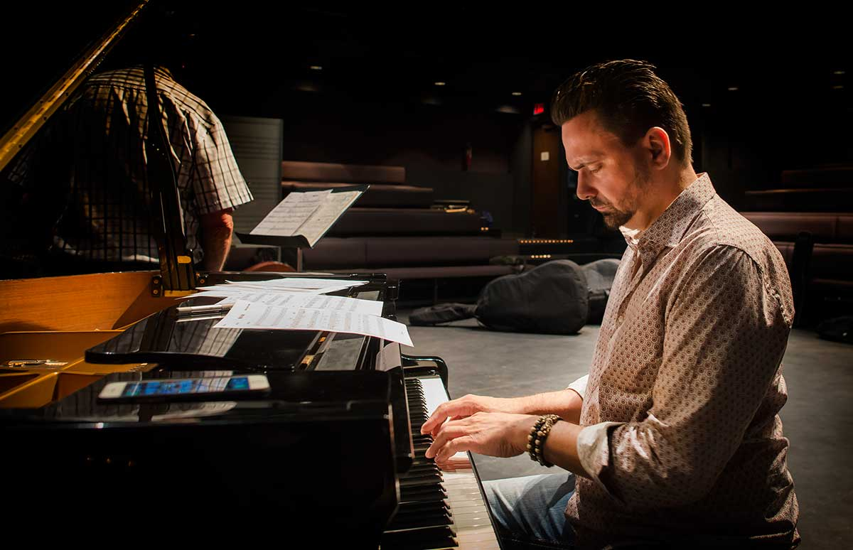 Instructor - Chris Andrew on Piano by Robert Berdan ©