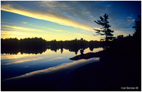 Island sunset near Midland Ontario by Karl Berdan -