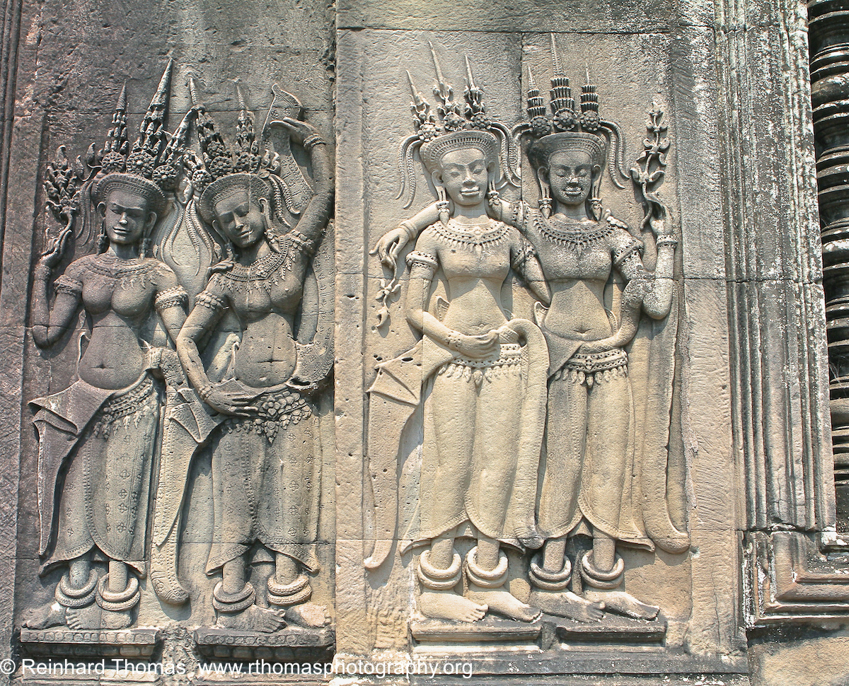 Carvings inside Angkor Wat Cambodia by Reinhard Thomas ©
