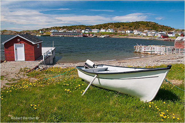 Durrle's arm near Twillingate on a sunny day by Robert Berdan ©