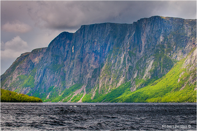 Cliffs Western Brook Poind in Gros Morne National Park Newfoundland by Robert Berdan ©