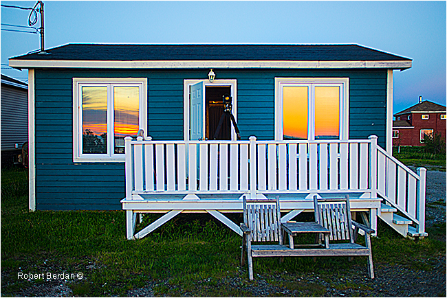 Cottage at Musgrave Harbour at sunrise by Robert Berdan ©