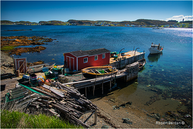 Staging building on Hart's Cove Newfoundland by Robert Berdan ©