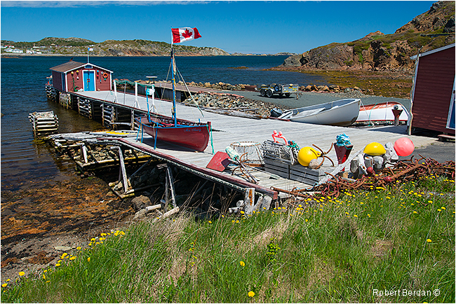 Dock near French Beach Newfoundland by Robert Berdan ©