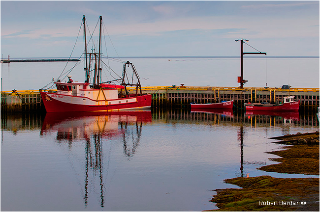 Boats in Rocky Harbour Gros Morne National Park Newfoundland by Robert Berdan ©