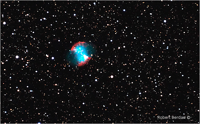 Dumbell nebula, M27 by Robert Berdan ©
