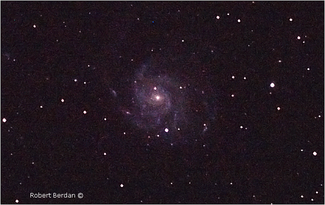 Messier 101a, PinWheel Galaxy by Robert Berdan ©