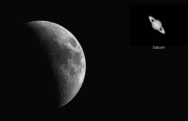 Moon and Saturn by Robert Berdan ©