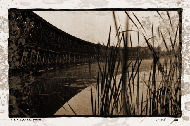 Hog Bay Trestle Port MicNichol Ontario by Robert Berdan 1972