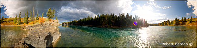 Panorama of the Bow River in Stoney Plain Park by Robert Berdan ©