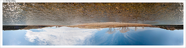 Panorama of the Oldman river flipped upside down by Robert Berdan ©