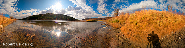 Panorama of the Red Deer River by Robert Berdan