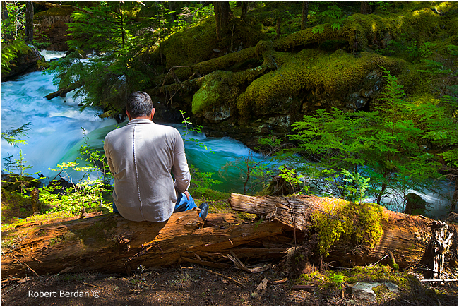 Relaxing along Begbie creek by Robert Berdan ©