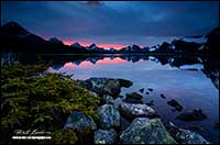 Sunrise over Amethyst Lake Tonquin Valley by Robert Berdan
