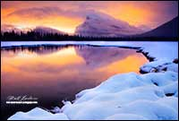 Sunrise on Vermilion lake outside of Banff in January by Robert Berdan